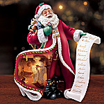 Norman Rockwell Checking It Twice Collectible Santa Figurine
