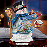 Joy Of The Season Wildlife Art Collectible Snowman Figurine