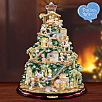 Precious Moments O Holy Night Illuminated Nativity Tabletop Christmas Tree