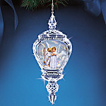 Sandra Kuck Angel Kisses Angel Art Collectible Crystal Ornament