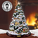 Thomas Kinkade Tabletop Christmas Tree: John Deere Winter Wonderland
