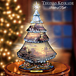 Thomas Kinkade Lighting The Way Porcelain Tabletop Christmas Tree
