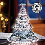 Thomas Kinkade Crystal Reflections Tabletop Christmas Tree