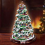 Santa Claus Golfing Collectible Tabletop Christmas Tree: North Pole Links