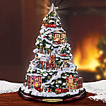 Firefighters Village Collectible Tabletop Christmas Tree