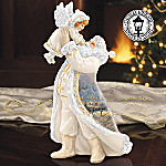 Thomas Kinkade's Santa's Little Helper Santa And Angel Figurine
