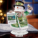 May The Road Rise Up To Meet You Irish Blessings Snowman Figurine