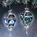 Mystic Visions Collectible Wolf Art Ornaments: Set One