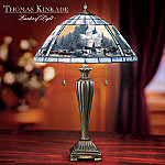 Thomas Kinkade Victorian Christmas Stained Glass Table Lamp: Unique Home Decor