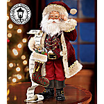 Thomas Kinkade St. Nicholas, Naughty Or Nice Old World Santa Figurine