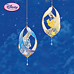 Disney Princess Dreams Porcelain Christmas Collectible Ornament Collection: Set One