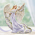 Lena Liu Inspirations Of Hope Floral Art Collectible Porcelain Angel Figurine