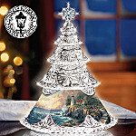 Thomas Kinkade Reflections Of Peace Crystal Christmas Tree