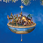 Thomas Kinkade Peace On Earth Nativity Animated Christmas Ornament
