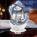 Thomas Kinkade Beacon Of Hope Collectible Snowman Figurine