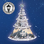 Thomas Kinkade Collectible Crystal Christmas Ornament: Thomas Kinkade Crystal Reflections