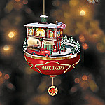 Call To Duty Firefighter Tribute Illuminated Animated Ornament