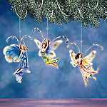 Floral Fantasy Collectible Butterfly Fairy Ornaments: Set One