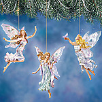 Lena Liu Enchanting Fairyland Butterfly And Flower Fairy Ornaments: Set One