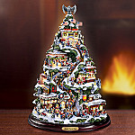 Santa's Cycle City Biker-Themed Illuminated Tabletop Christmas Tree