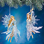 Frosted Enchantment Winter Fairy Collectible Ornament Collection: Set One