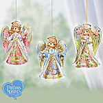Precious Moments Reflections Of Faith Lighted Ornament Collection: Set One