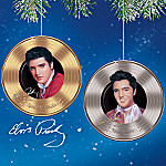 Elvis Presley Tribute Of Platinum And Gold Hits Collectible Ornament Collection: Set One