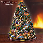 Thomas Kinkade Tranquil Mountain Village Tabletop Tree: Nature-Themed Home Decor