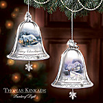 Thomas Kinkade Silver Bells Christmas Tree Ornament Collection: Set One
