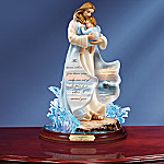 Footprints In The Sand Inspirational Figurine