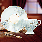 Lena Liu Songbird Art Teacup And Saucer Set: Prairie Song