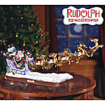 Rudolph The Red-Nosed Reindeer Illuminated Santa Sleigh Figurine