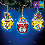 Disney Collectible Winnie The Pooh's Jingle All The Way Christmas Ornament Collection: Set One