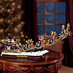 Elvis Presley Collectible TCB Christmas Illuminated Santa Claus Sleigh Figurine