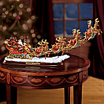 North Pole Sleigh No. 1 Firefighter Themed Collectible Santa Claus Sleigh Figurine