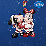 2007 Annual Disney Mickey And Minnie Collectible Christmas Ornament: Under The Mistletoe