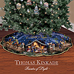 Thomas Kinkade O Holy Night Nativity Tree Skirt: Christmas Tree Decor