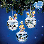 Precious Moments Joyful Jingle Bells Christmas Ornaments: Set One