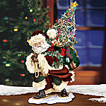 Bringing Christmas Cheer Collectible Santa Figurine: Unique Christmas Decoration