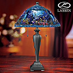 Christian Riese Lassen Art Jewels Of The Sea Stained-Glass Table Lamp
