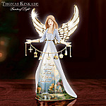 Thomas Kinkade Family And Faith Collectible Porcelain Angel Figurine With Charms