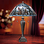 Pride Of The South Civil War Art Collectible Stained-Glass Table Lamp