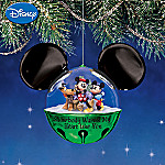 Disney Mickey And Minnie Winter Wonderland Jingle Bell Ornament Collection: Set One