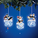 Chillin' Out Penguin Christmas Tree Ornament Collection: Set One