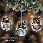 Thomas Kinkade Ringing In The Season Santa Claus Jingle Bell Ornament Collection: Set One
