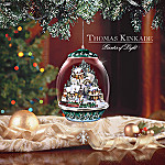 Thomas Kinkade Animated And Lighted Ornament: Christmas Village Enchantment