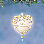 My Dearest Daughter-In-Law Heart-Shaped Christmas Tree Ornament Keepsake Gift