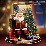 Thomas Kinkade 'Twas The Night Before Christmas Storytelling Santa Figurine