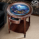 Christian Riese Lassens Ocean Paradise Round Accent Table: Decorative Home Furniture