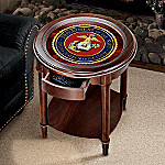USMC Accent Table: Marine Corps Home Decor